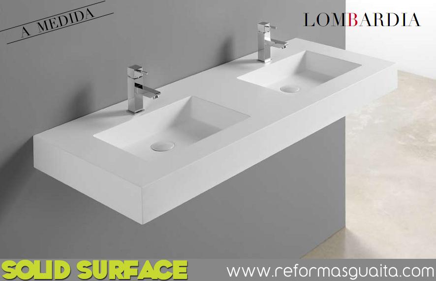 Lavabos Para Baño Medidas:lavabo+doble+2+lavabos+solid+surface+LOMBARDIA+a+medida+fondo+50
