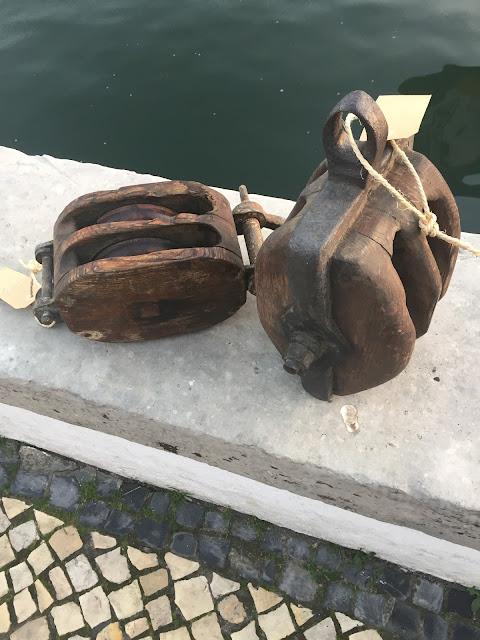moitão, roldana, bacalhoeiro, antigo, náutico