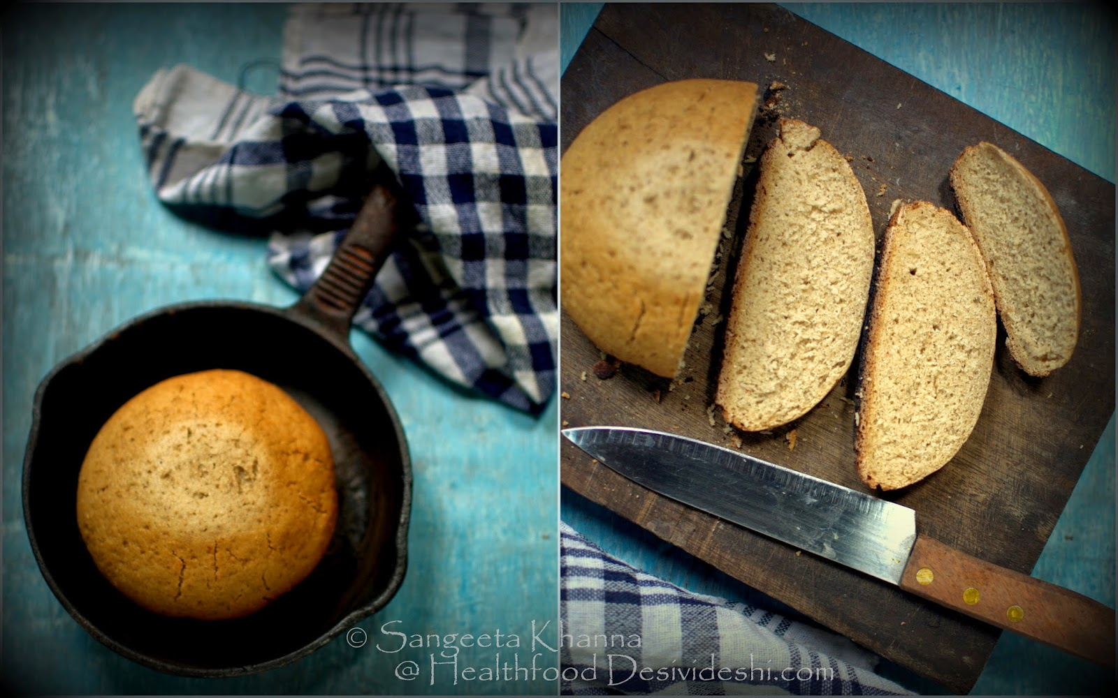 baking breads : skillet bread | whole wheat and sorghum bread baked in a skillet