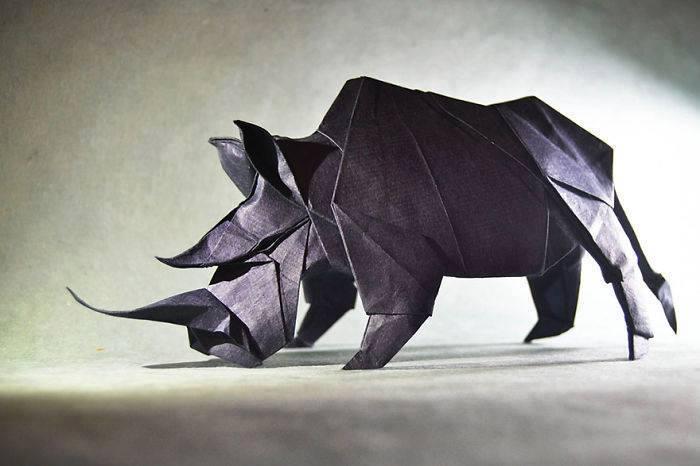 origami-badak