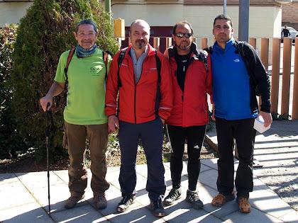 Amb els amics de Rubí a la Caminada Popular d'Artés 2012