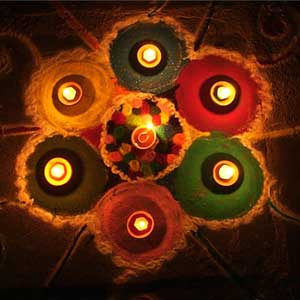 Festival celebration: Light Dhoop and Deepak