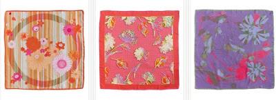 Pañuelos de seda cuadrados de Guy Laroche