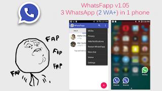 WhatsFapp versi 1.20 apk [Dua Whatsapp Satu Android] + Cara Instal