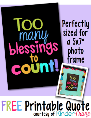"Free ""Too Many Blessings to Count!"" inspirational printable"