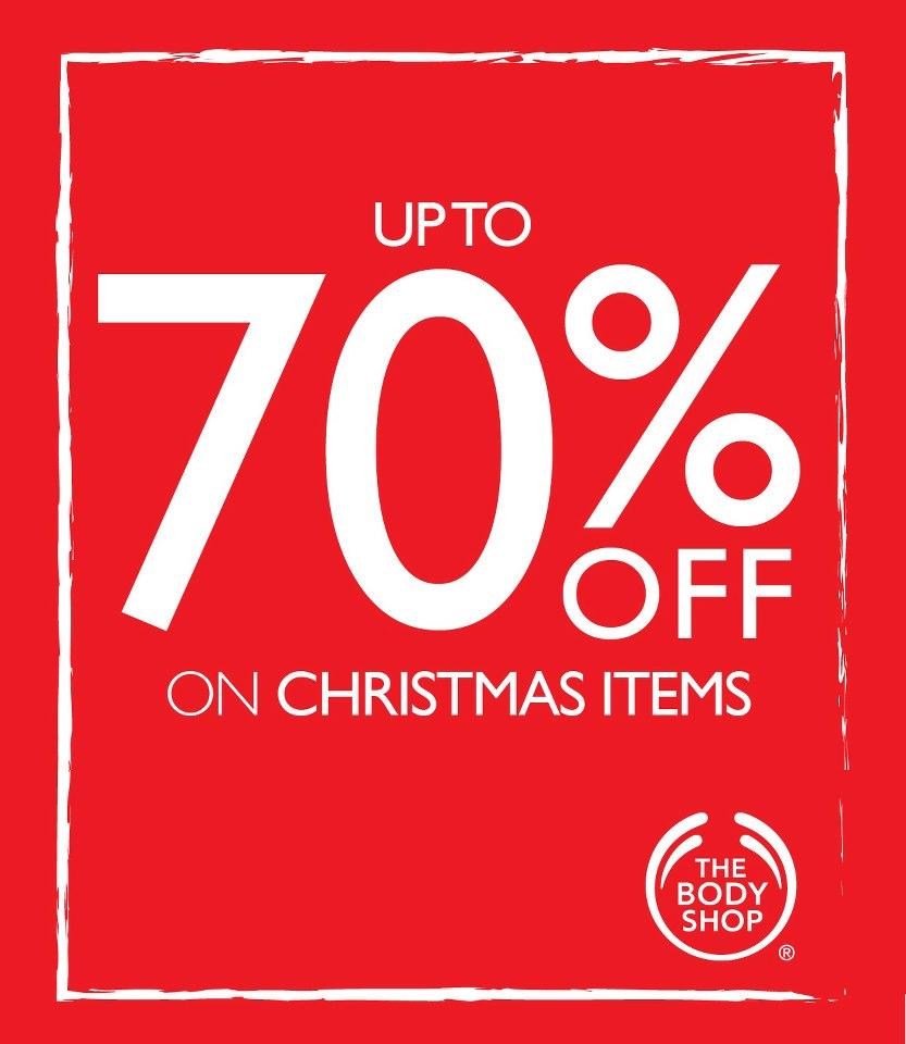 Manila shopper the body shop 39 s sale on christmas items 2012 for Christmas sale items
