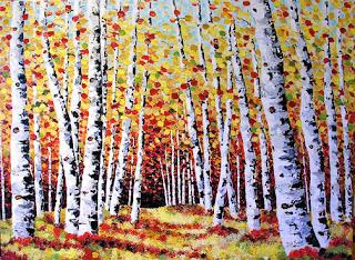 fall aspen painting