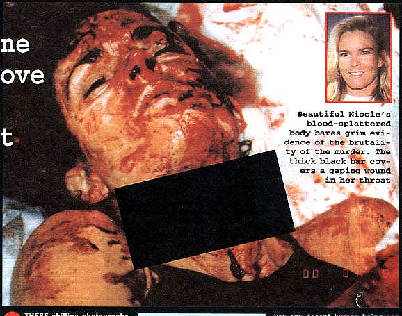Above two and below: Murder victim Nicole Brown Simpson, after her ex ...