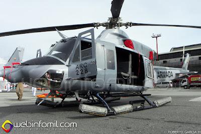 Bell 412 de la Aviación Naval de la Armada de Colombia.