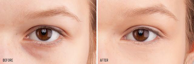 concealer effects under eyes