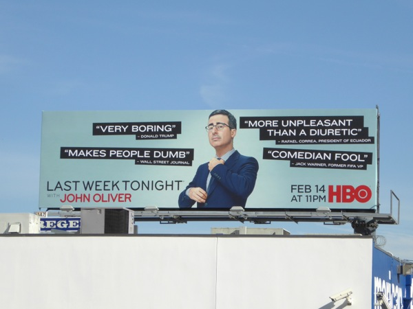 Last Week Tonight John Oliver season 3 billboard