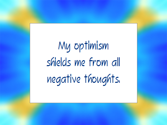 OPTIMISM affirmation