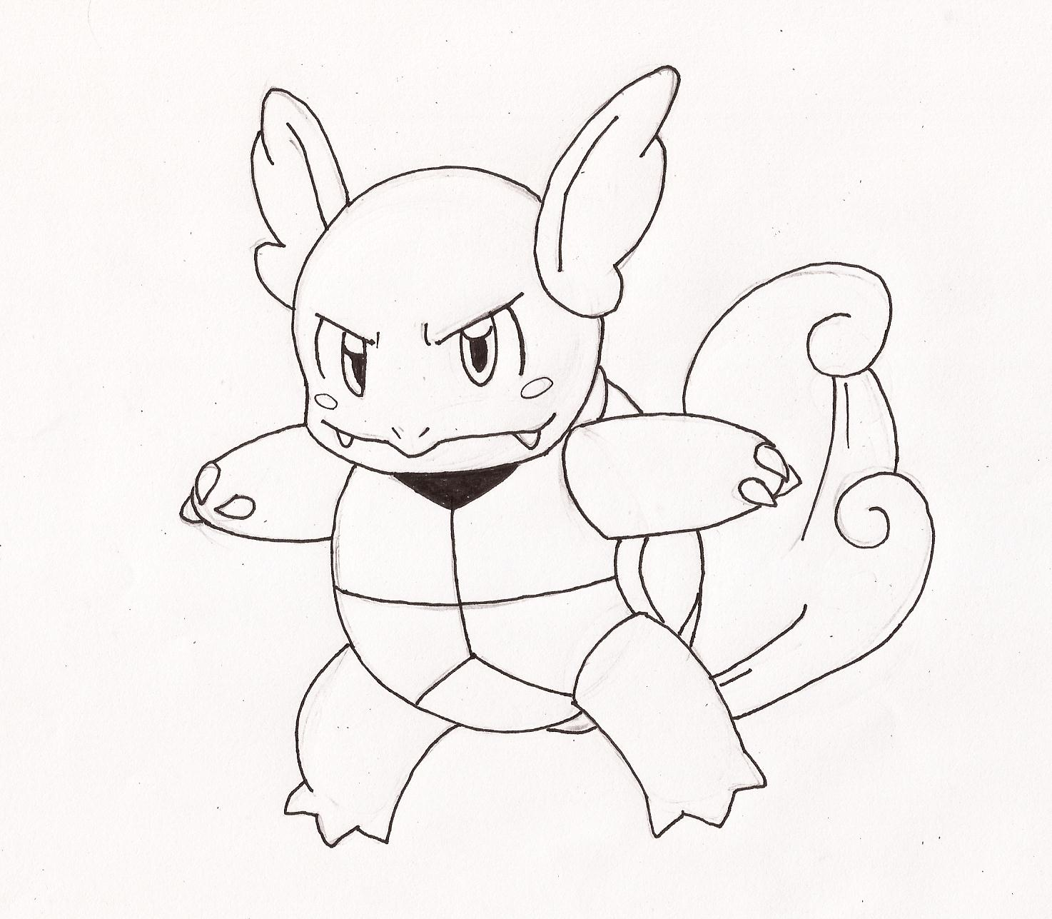 Free coloring pages of pokemon pokemon wartortle