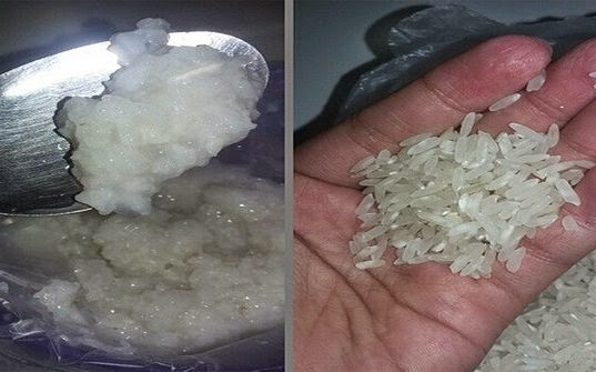 Ciri-ciri Beras Oplosan (Beras Plastik) dan Beras Asli