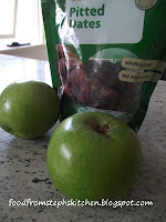 Apples and dates for upside down pie