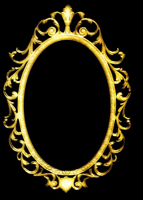 Zoom dise o y fotografia espejo vintage clipart png for Espejo con borde biselado