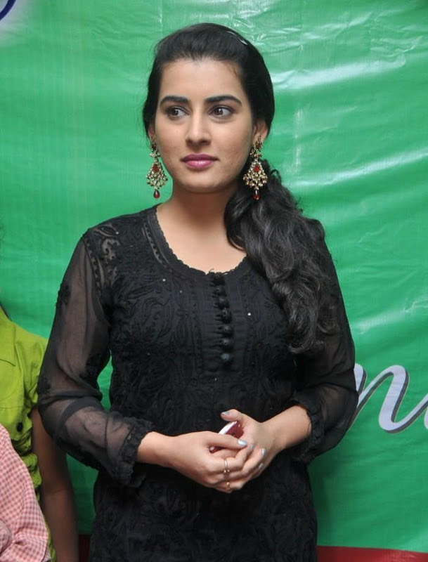 Archana in black dress