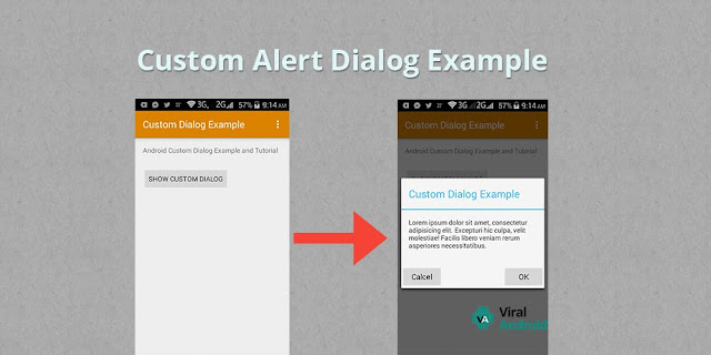 Android Custom Alert Dialog Example