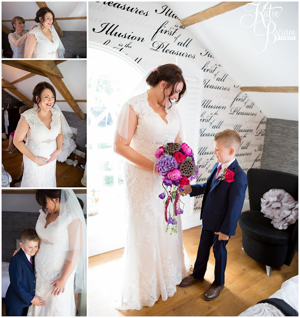bridal preparations, bride and son, woodhill hall, northumberland wedding venue, woodhill hall wedding photographs, woodland wedding, otterburn wedding, katie byram photography,