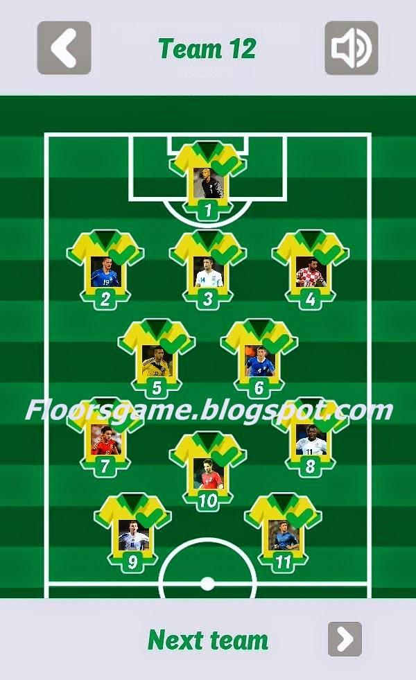 World Football Quiz 2014 Team 10 11 12 Answers