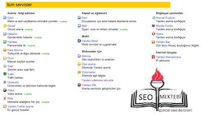 Yandex Arama Motorunun Bütün Ayrıntıları