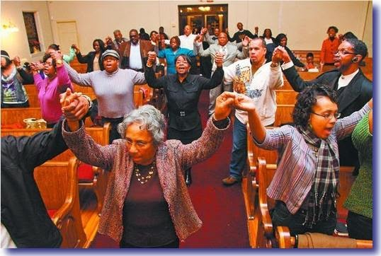 Black people in church