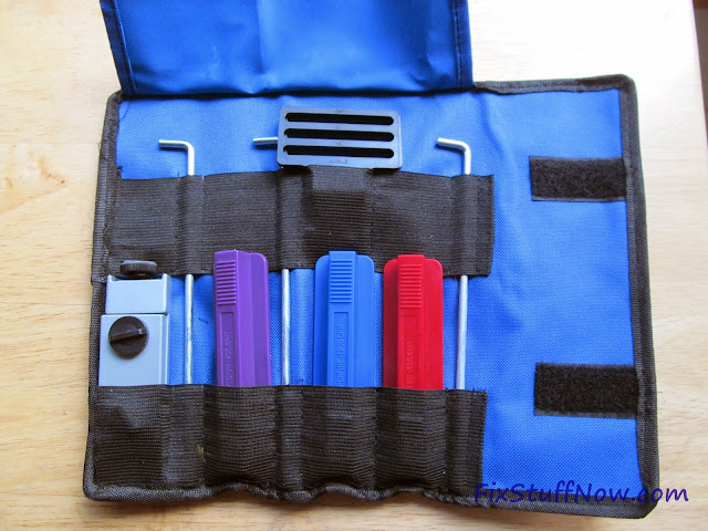 EZE-LAP DMD Fixed Angle Knife Sharpening System - Pouch Opened