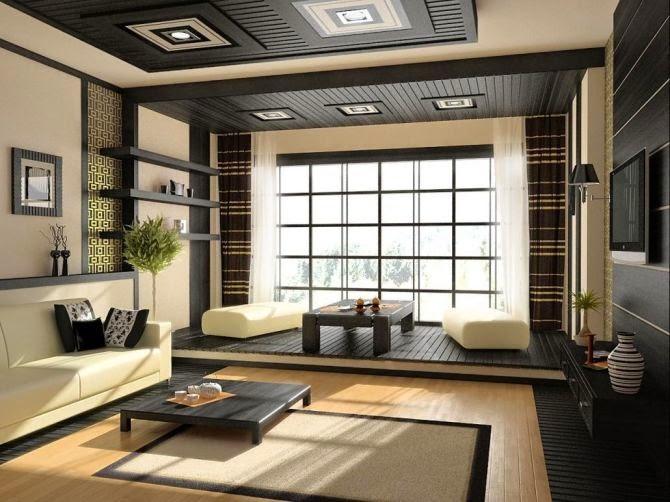 desain modern ruang tamu gaya jepang