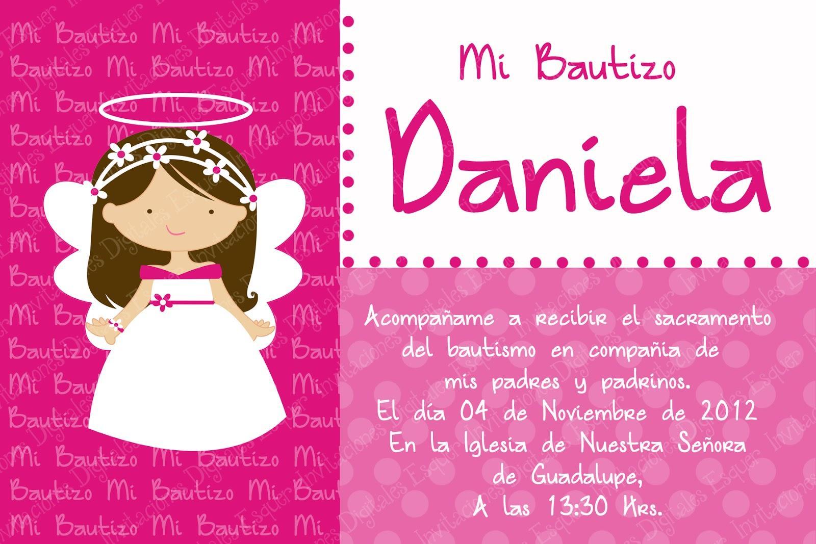 Invitaciones Digitales Esquer: Bautizo