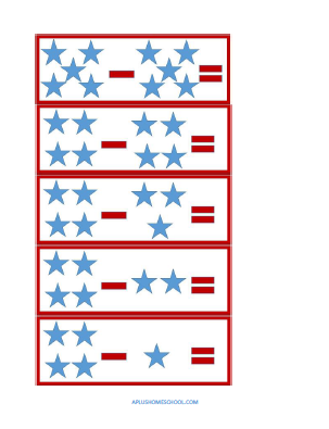 star spangled addition & subtraction