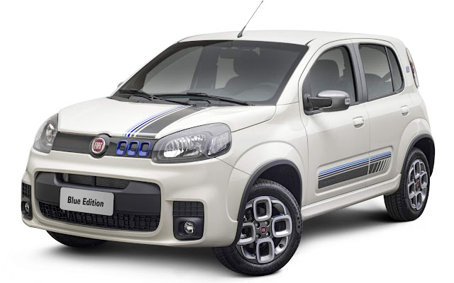 Novo Fiat Uno Sporting 2016 Blue Edition