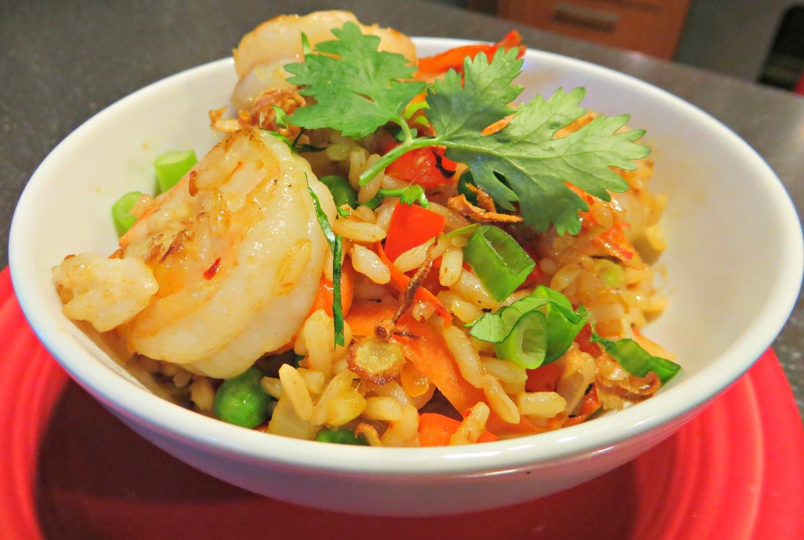 Shrimp Fried Rice With Nam Prik Pao And Crispy Lemongrass Recipes ...