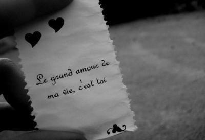 Mots d'amour je t'adore