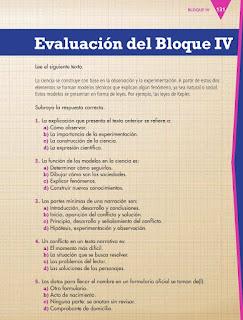 Apoyo Primaria Español 4to Bloque IV Evaluación del Bloque IV