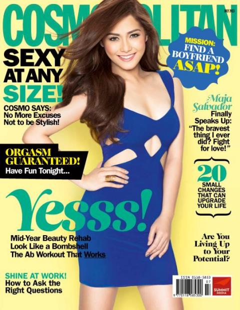 Maja Salvador covers Cosmopolitan magazine July 2013 issue