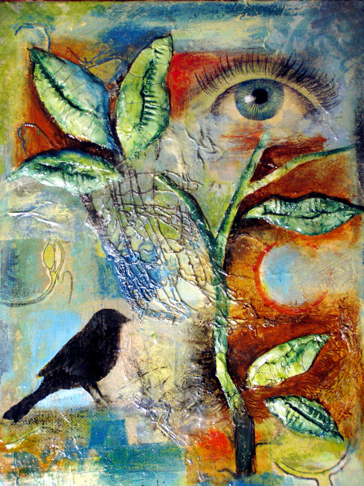 collage, put a bird on it