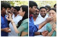 Vijaya Sethupathi Dharmadurai team celebrates Rajini's Dharmadurai