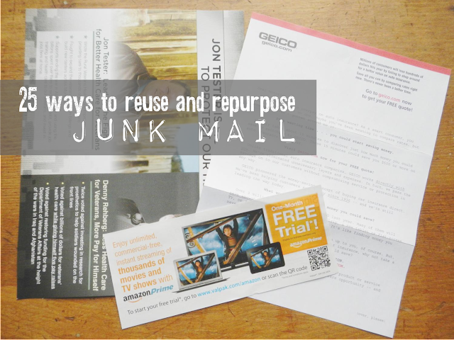 25 ways to reuse junk mail