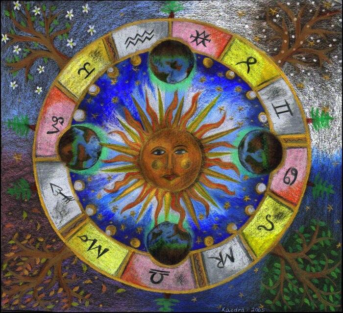 ESTAÇÕES DO ANO na Astrologia - clicar na imagem
