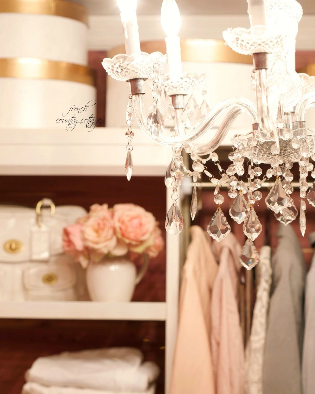french glam closet makeover cedar lined