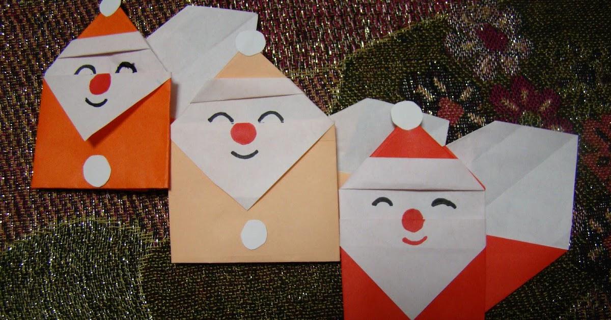 Origami maniacs origami santa claus 3 for Make origami santa claus