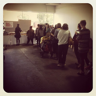bowerbird bazaar 2012 - red door bakery was very popular