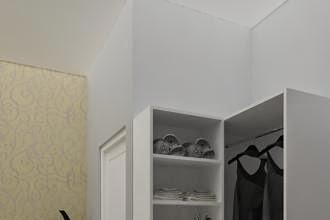 Gambar 3D Lemari Kamar Tidur Master Bedroom Simple biaya desain 350ribu