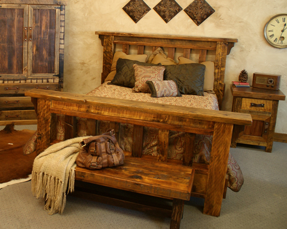 Muebles para dormitorios y camas r sticas un encanto for Recoger muebles