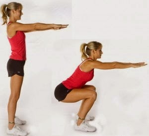 squat bantu bina otot bahagian pinggang ke bawah