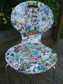 Beano Decoupage chairs