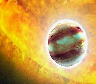 vapor de agua en exoplaneta