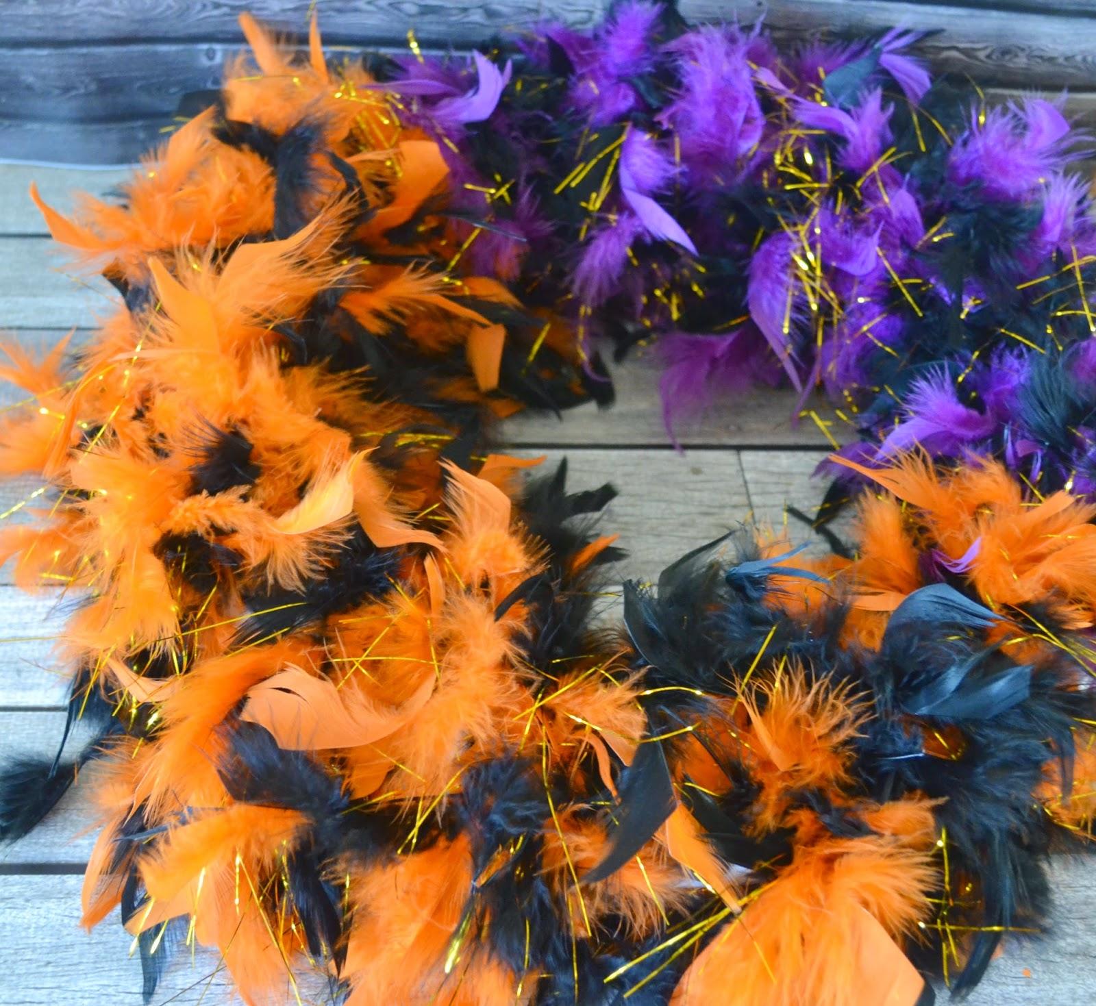 feathered halloween door wreath diy easy halloween decorations diy halloween door wreath