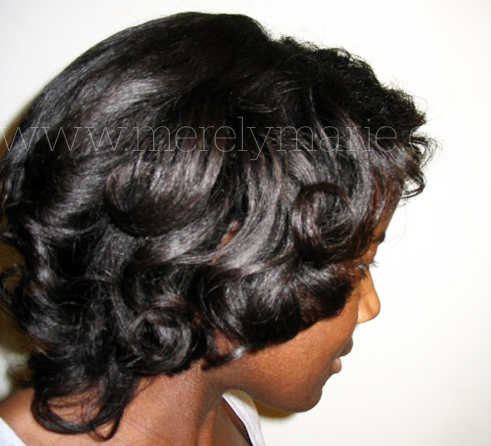 roller sets on short natural black hair short hairstyle 2013