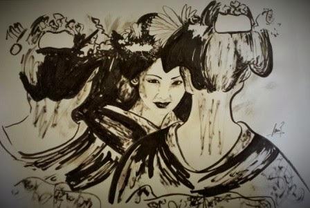 Geisha 3. Tinta China 2014. 35x49cm